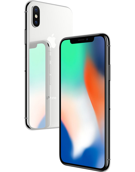 Smartphone Apple iPhone X 64GB silver used grade A+